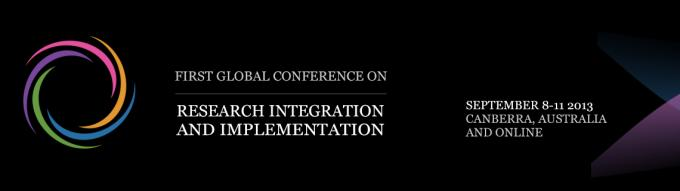 Logo for the First Global Conference on Research Integration and Implementation